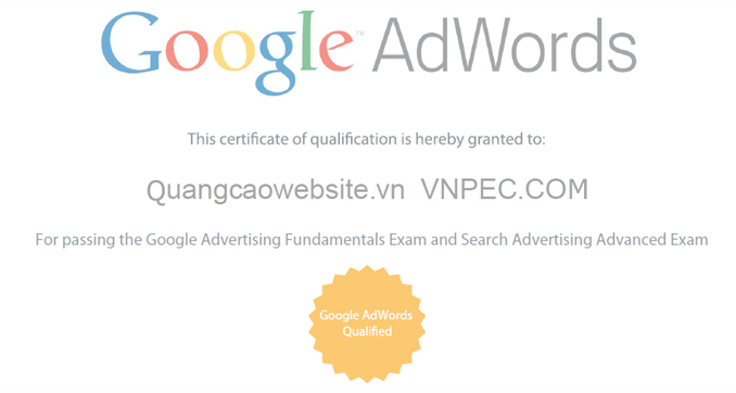 Google AdWords Qualified - Search Advertising